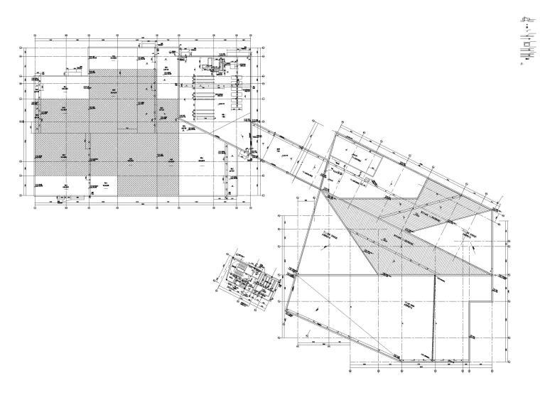 [贵州]四层框架结构博物馆建筑施工图2018-屋顶拼合平面图