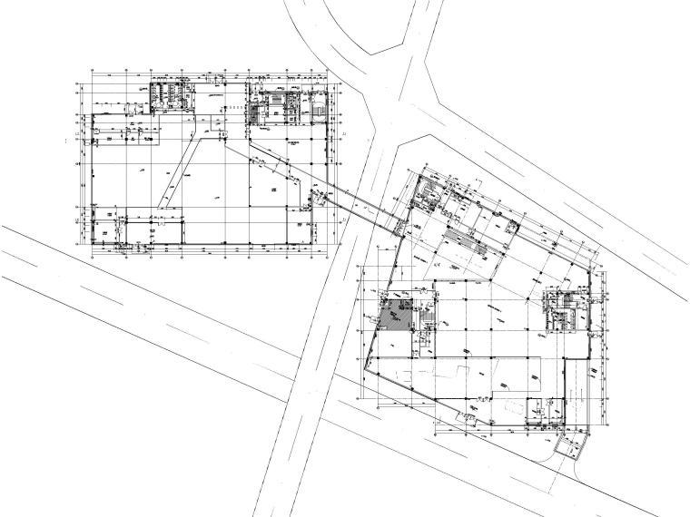 [贵州]四层框架结构博物馆建筑施工图2018-一层平面图