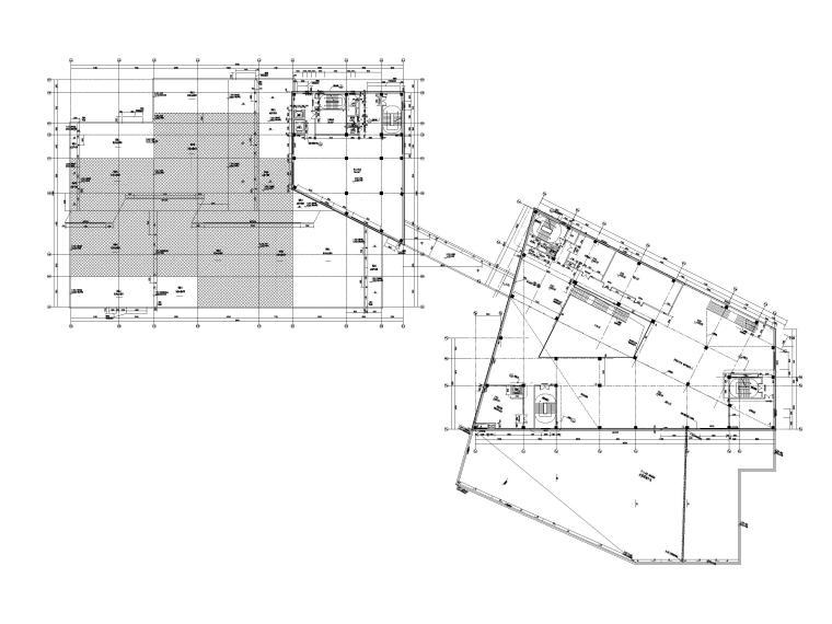[贵州]四层框架结构博物馆建筑施工图2018-二层平面图