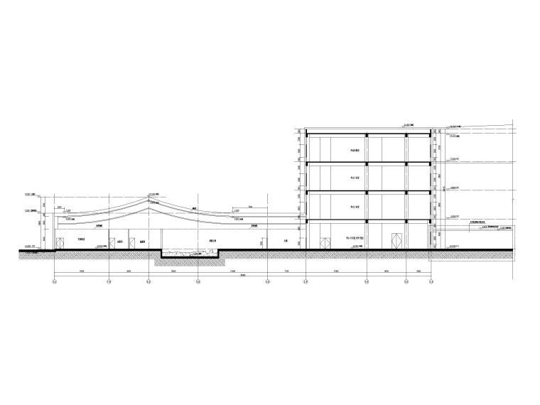 [贵州]四层框架结构博物馆建筑施工图2018-剖面图