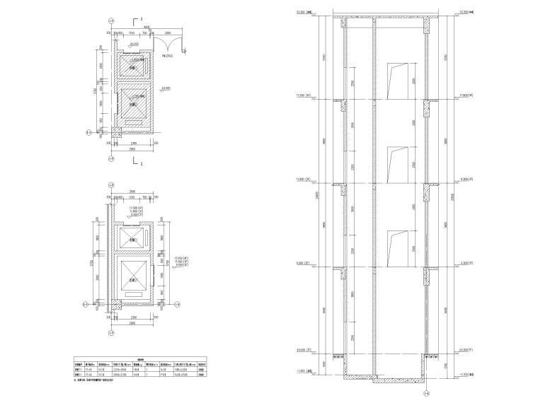 [贵州]四层框架结构博物馆建筑施工图2018-电梯详图