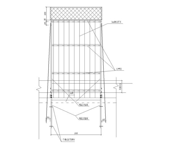 悬挑式卸料平台工程安全专项施工方案-04 卸料平台示意图