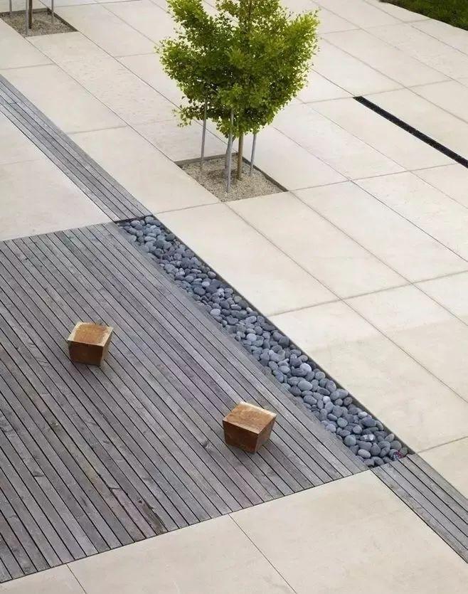 景观设计不只是种树,还有铺装、小品和水景_5