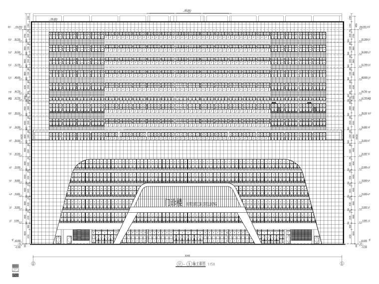 15层医院扩建门诊综合楼建筑施工图2020-立面图3