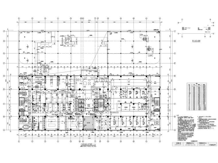 15层医院扩建门诊综合楼建筑施工图2020-门诊综合楼八层平面图