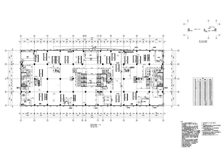15层医院扩建门诊综合楼建筑施工图2020-设备层平面图