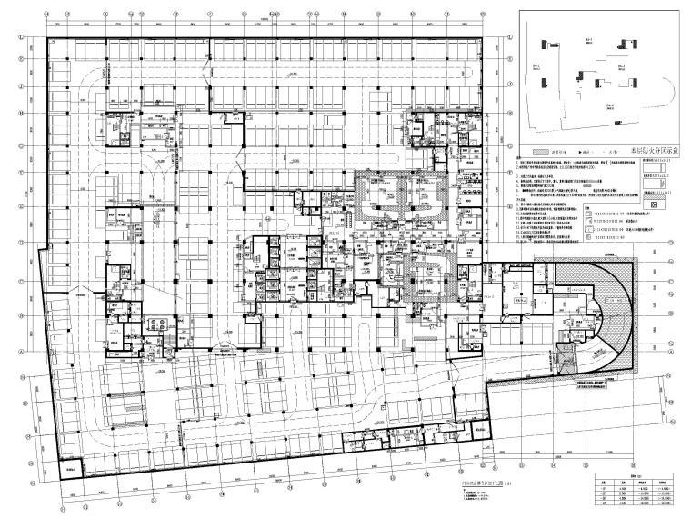 15层医院扩建门诊综合楼建筑施工图2020-门诊综合楼负四层平面图