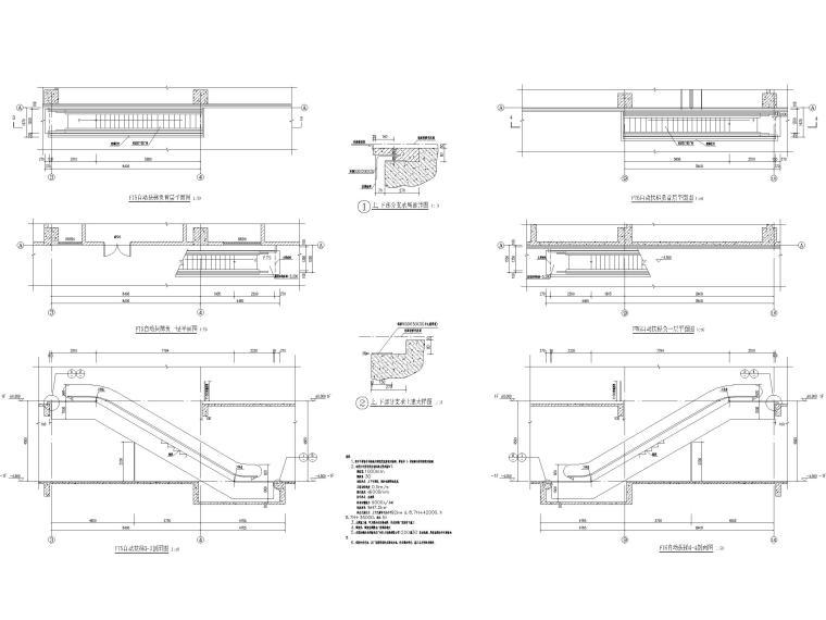 15层医院扩建门诊综合楼建筑施工图2020-自动扶梯剖面图