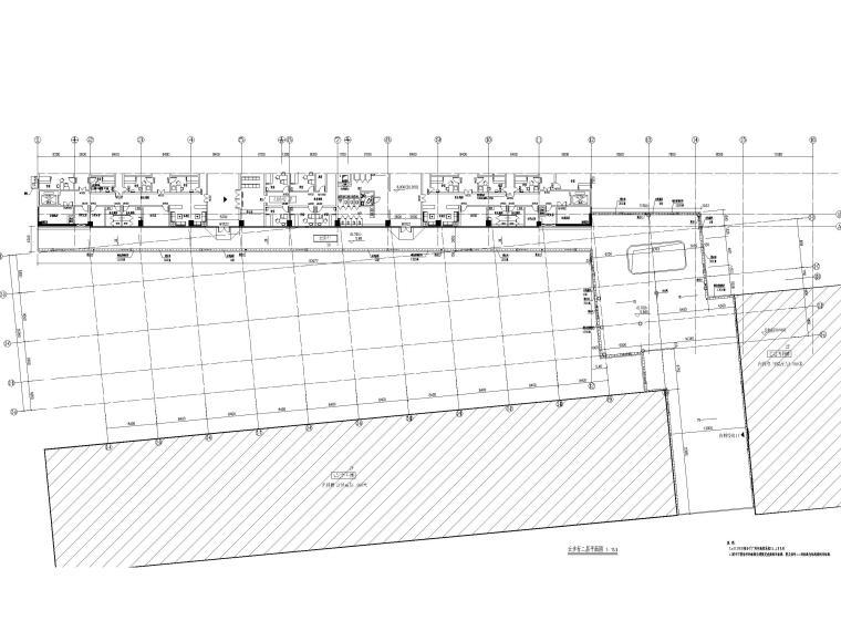 15层医院扩建门诊综合楼建筑施工图2020-云步行二层平面