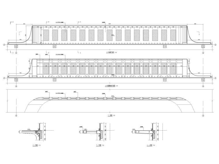 15层医院扩建门诊综合楼建筑施工图2020-雨棚大样图