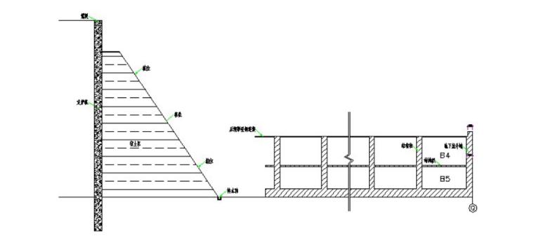 34层综合体建筑逆作法安全专项施工方案-08 坡台上开挖