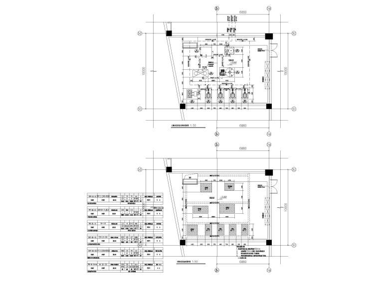 [贵州]博物馆暖通图纸含负荷计算书-空调水泵房详图