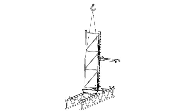 附着升降式脚手架拆除安全专项施工方案-02 单点吊拆示意图