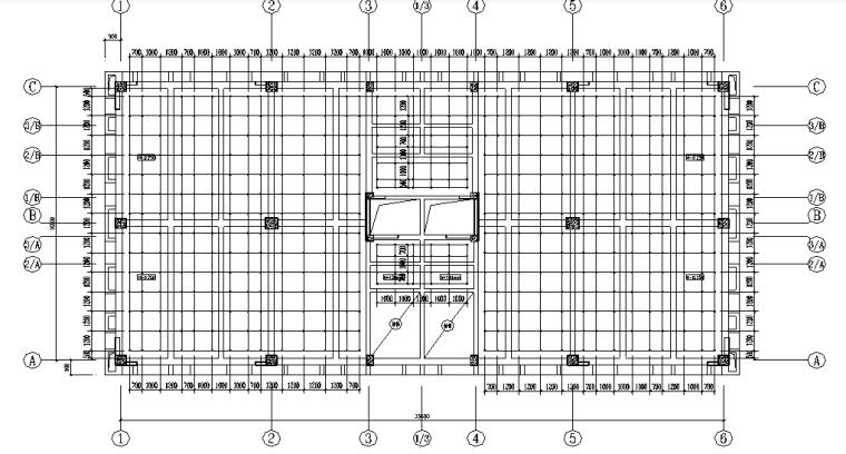 承插式模板工程安全专项施工方案-03 标准层承插式快拆架布置