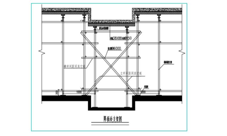 承插式模板工程安全专项施工方案-05 降板处支架图