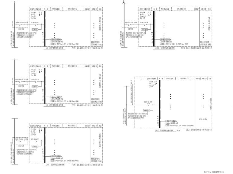 [重庆]知名大学综合楼电气施工图2019-4配电箱系统图_副本