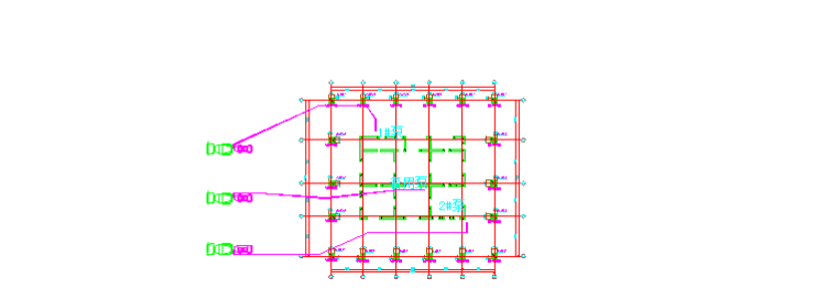 高层建筑高强混凝土工程施工方案-02 混凝土输送泵平面布置图