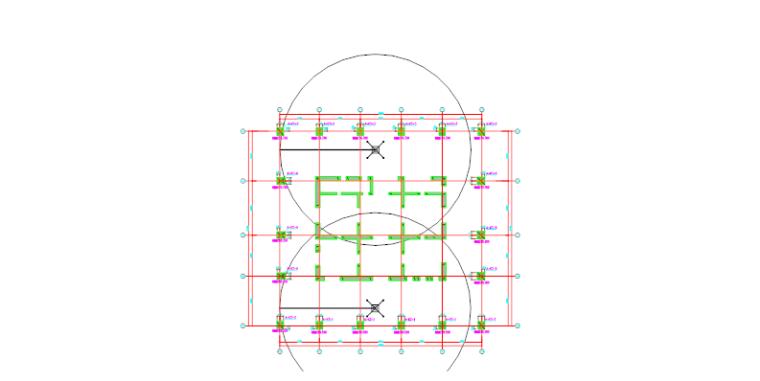 高层建筑高强混凝土工程施工方案-03 混凝土浇筑布料机布置