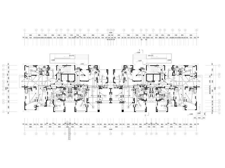 知名院_四栋住宅楼经典电气施工图-1插座平面图