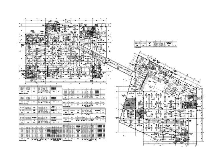[贵州]博物馆暖通图纸含负荷计算书-一层空调通风风管平面图