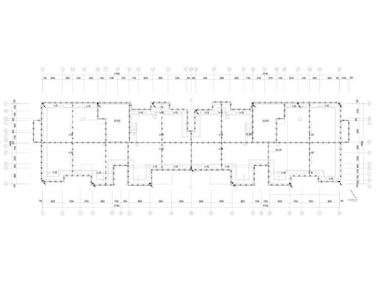 知名院_四栋住宅楼经典电气施工图-2防雷接地平面图