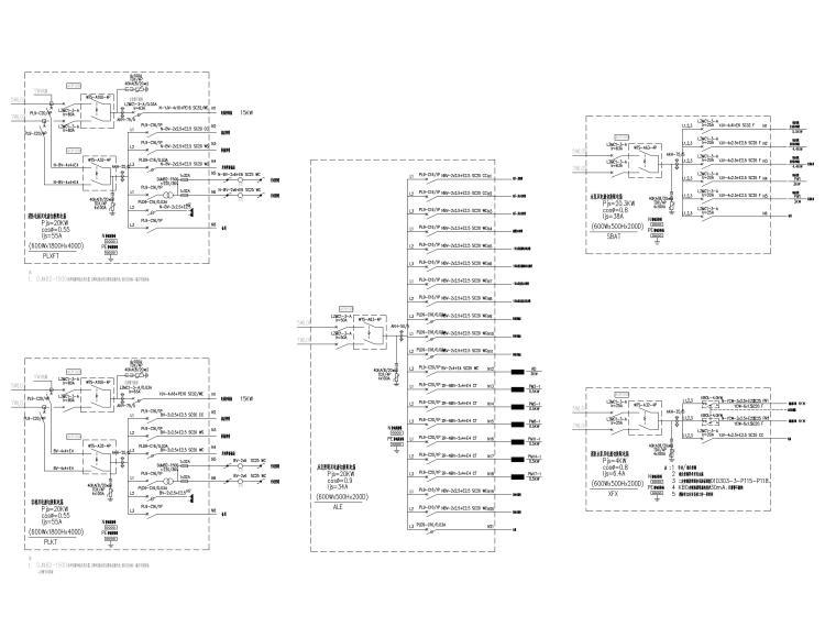 知名院_四栋住宅楼经典电气施工图-4配电箱系统图