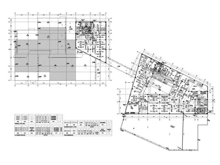 [贵州]博物馆暖通图纸含负荷计算书-二层空调通风风管平面图