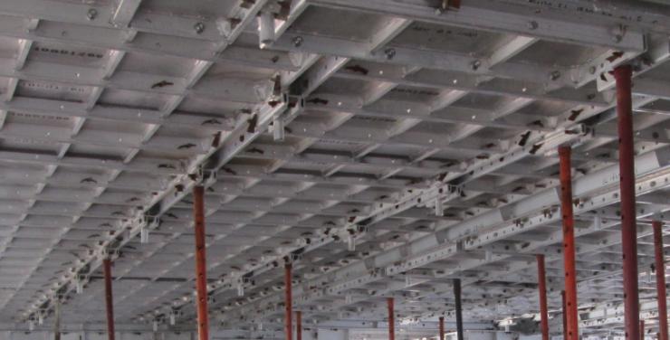 铝合金模板安全专项施工方案-03 楼板铝合金模板拼装效果图