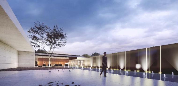 [浙江]慈溪现代风格居住区景观设计方案-传承空间效果图