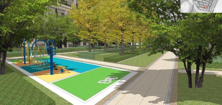 [浙江]慈溪现代风格居住区景观设计方案-健身区效果图2