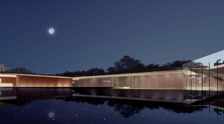 [浙江]慈溪现代风格居住区景观设计方案-水景效果图