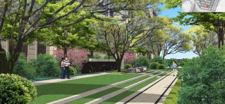 [浙江]慈溪现代风格居住区景观设计方案-休憩区效果图