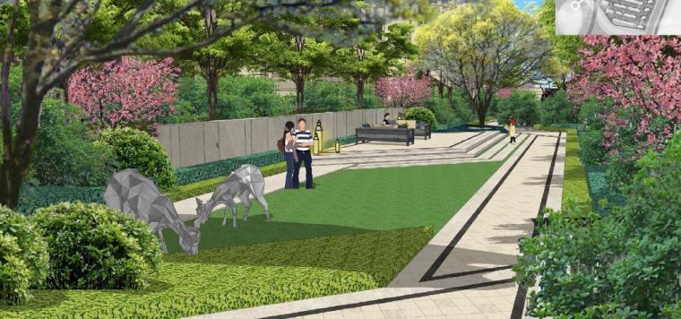 [浙江]慈溪现代风格居住区景观设计方案-休闲会客景观效果图