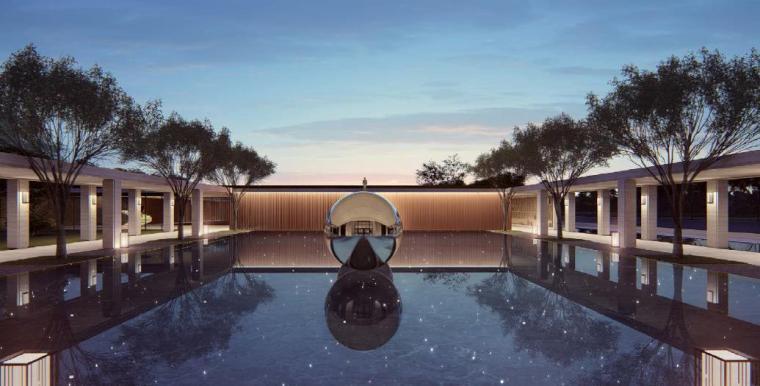[浙江]慈溪现代风格居住区景观设计方案-孕育空间效果图2