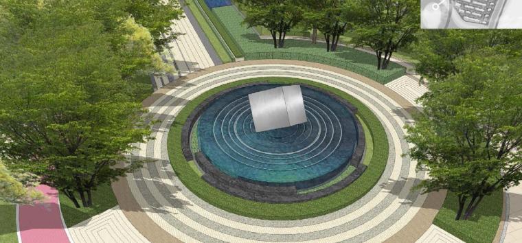 [浙江]慈溪现代风格居住区景观设计方案-广场效果图