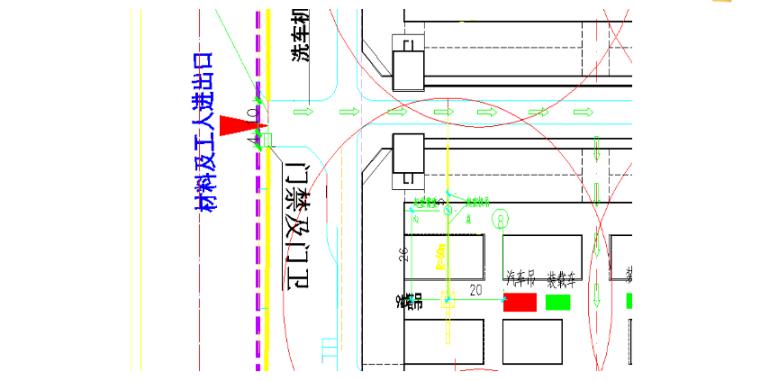塔吊拆除工程安全专项施工方案-02 塔吊拆除平面布置图