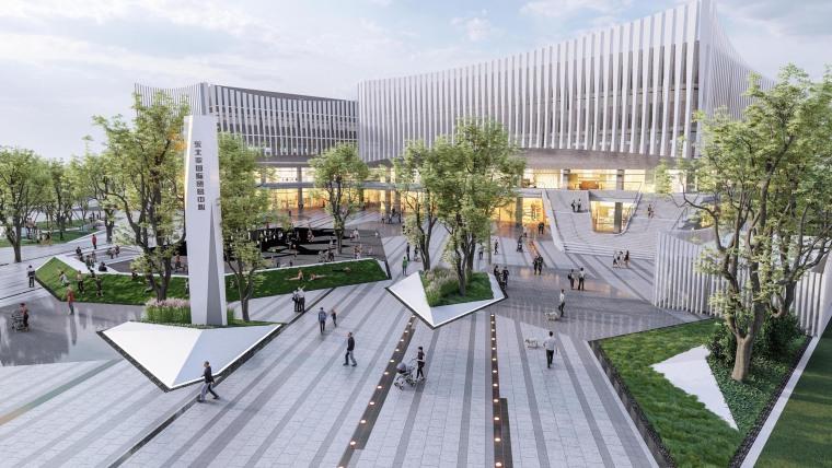 哈尔滨博览城市展厅前广场景观-20200717173321639