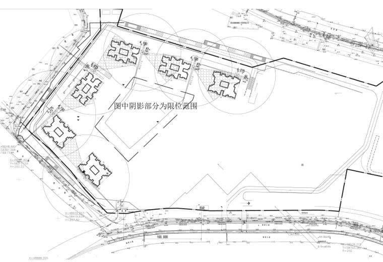 群塔作业防碰撞安全专项施工方案-03 塔吊限位平面布置图