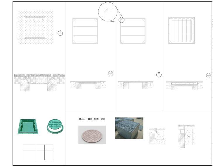 人民医院整体扩建施工图园林及围墙-T-03 装饰井盖大样图-布局1