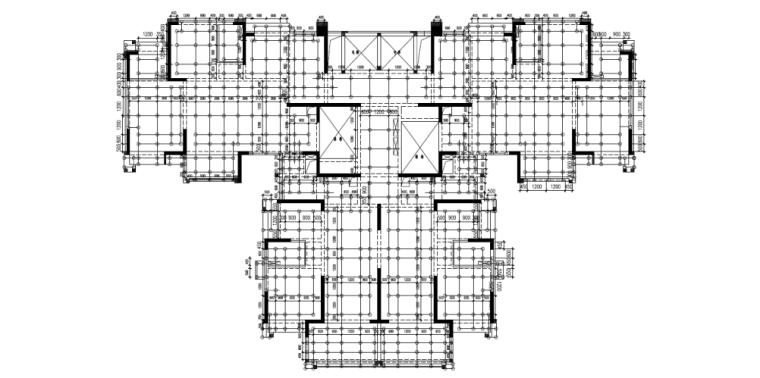 模板工程(轮扣式)安全专项施工方案-04 轮扣式脚手架平面布置图