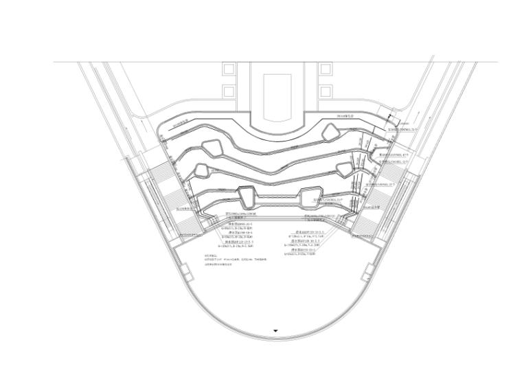 [宁夏]商业中心景观设计CAD施工图-水景