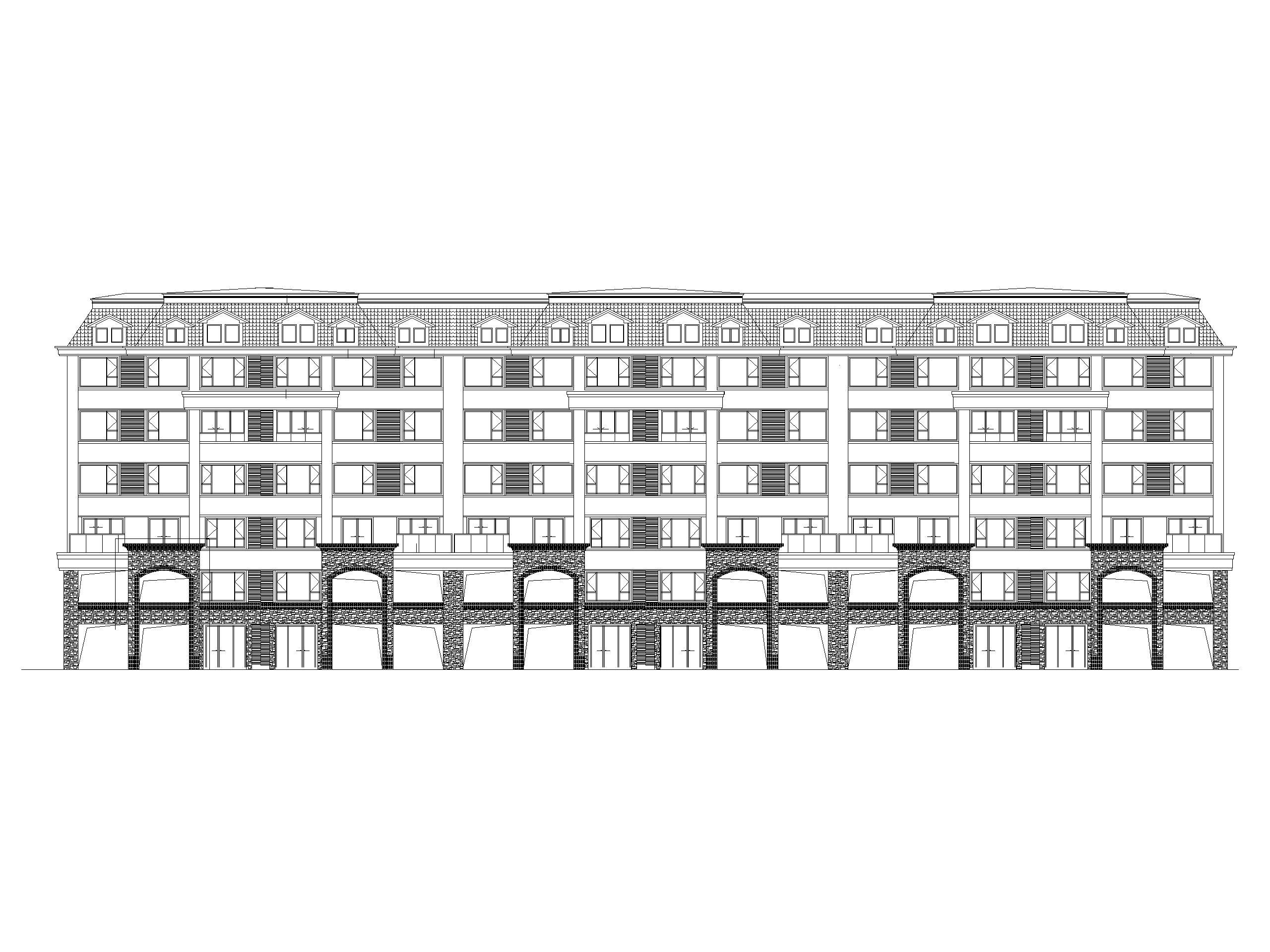 多层住宅洋房叠拼联排合院及商业建筑施工图