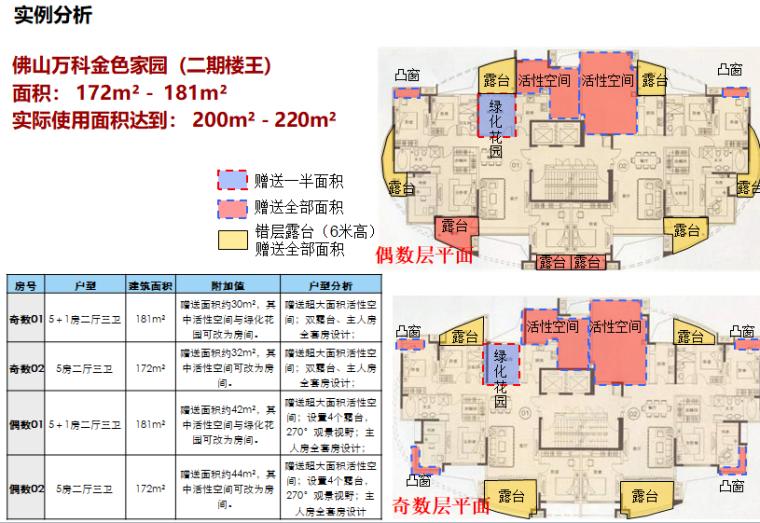 房企户型面积赠送研究(83页,图文)-实例分析