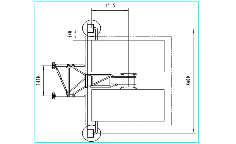 33层住宅楼施工电梯安装安全专项施工方案-04 Ⅱ型附墙架与电缆保护架电缆筒外置时安装