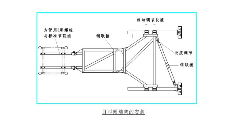 33层住宅楼施工电梯安装安全专项施工方案-02 Ⅱ型附墙架的安装