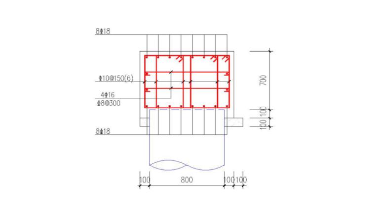 深基坑支护与土方开挖安全专项施工方案-05 冠梁连梁配筋大样图