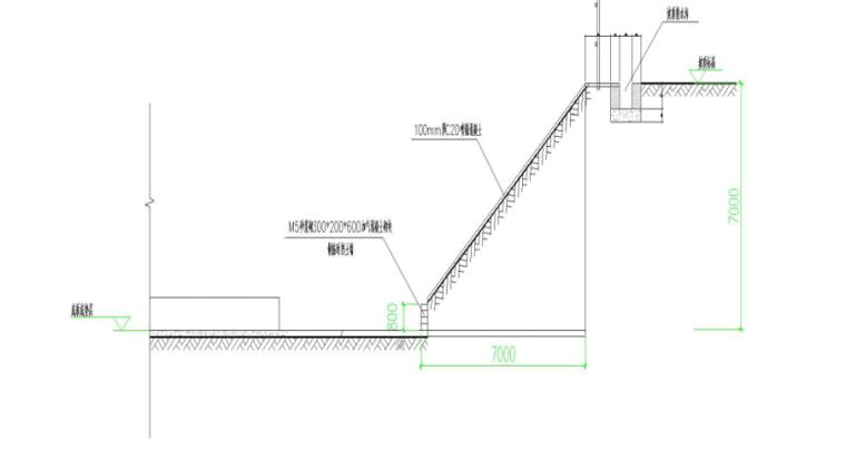 深基坑支护与土方开挖安全专项施工方案-07 施工段放坡剖面图