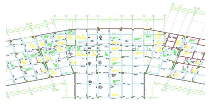 变形缝处剪力墙柱模板施工专项施工方案-05 变形缝处剪力墙模板平面图