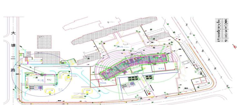 15层医院装配式预制构件吊装专项施工方案-02 塔吊、堆场、施工道路布置图