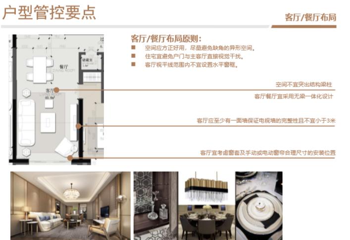 知名房企住宅标准化户型库使用指引(2019年)-客厅、餐厅布局